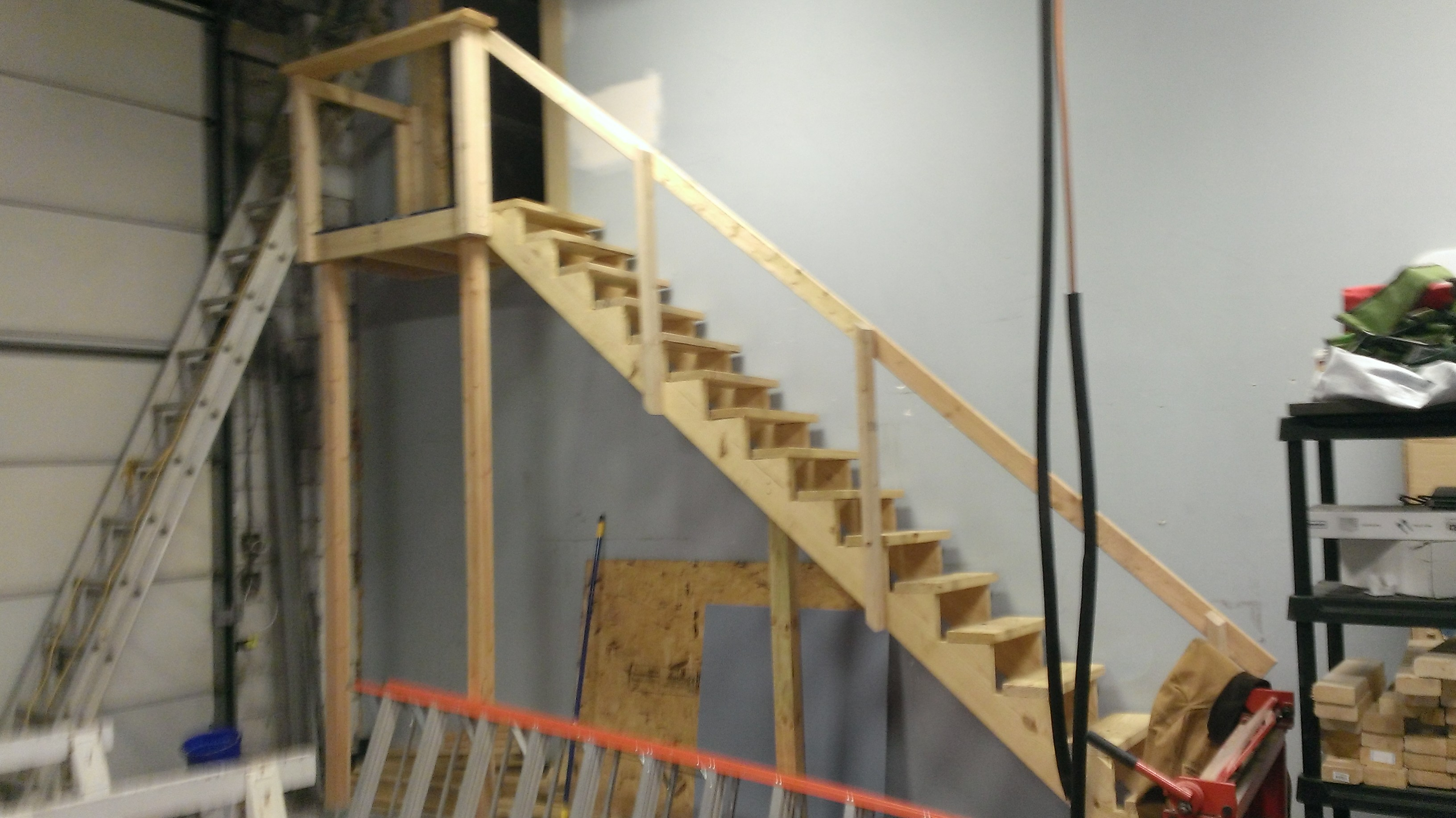 Custom Staircase With Small Deck